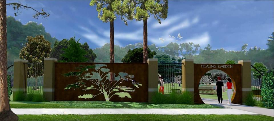 healing garden rendering